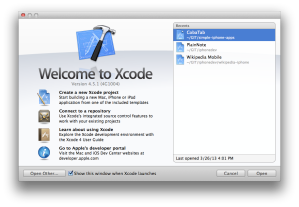 Xcode first windows