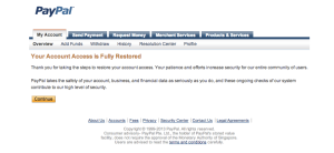 restore Paypal limited account access