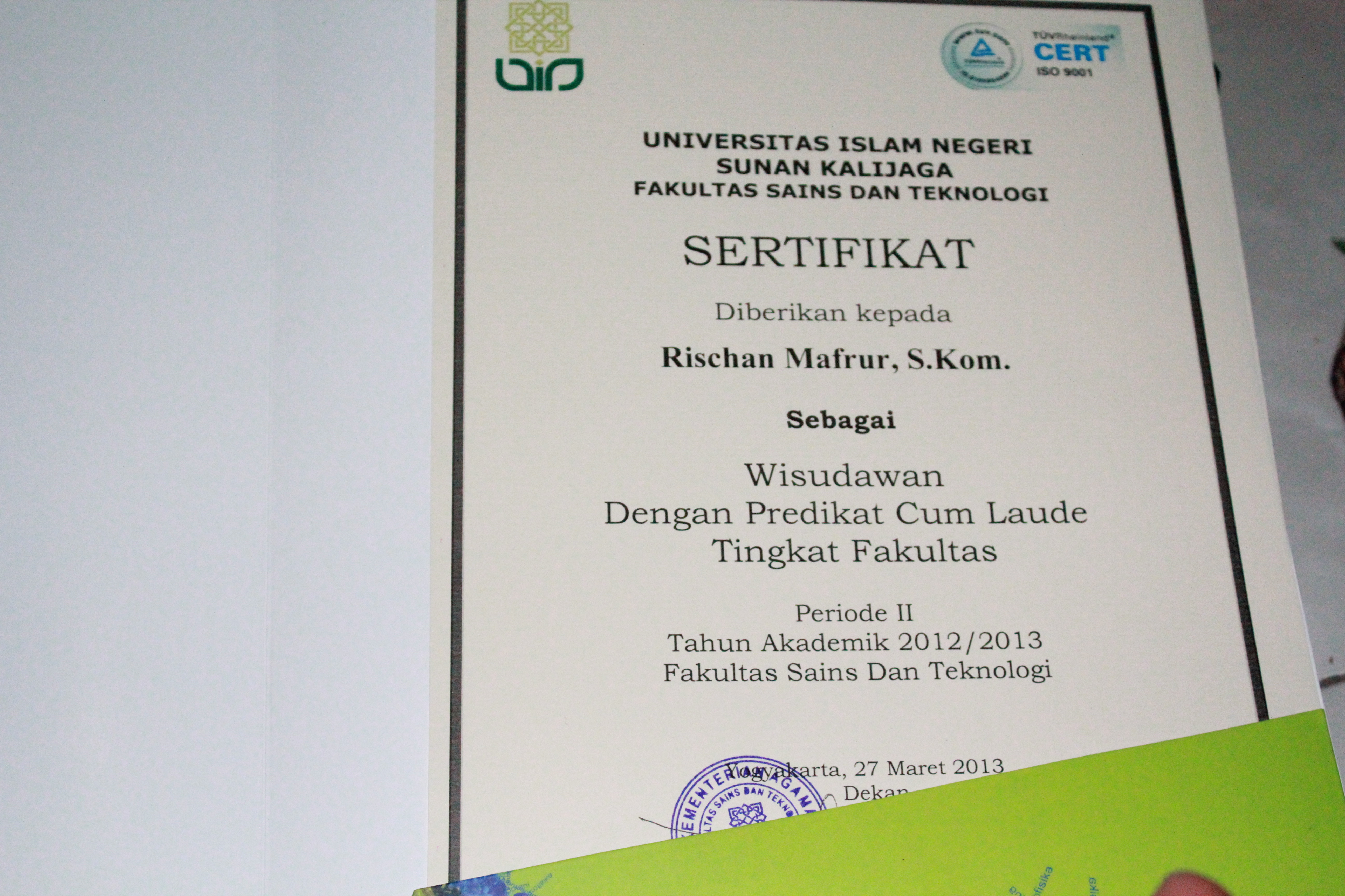 Cumlaude Certifikat
