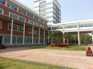 Bunga Semi Engineering building CNU Korea Selatan